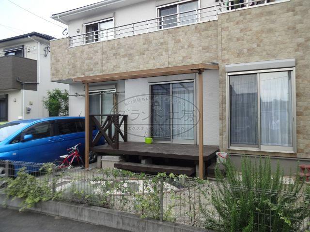 糸島市 テラス屋根工事