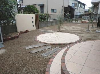 岡垣町 小さなガーデン工事