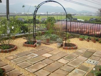 笑顔あふれる庭