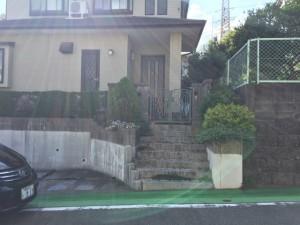 福岡市東区 階段改修・庭工事