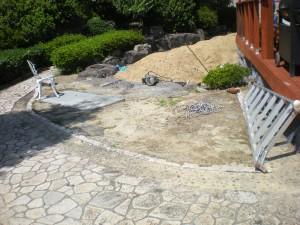 岡垣町 雑草対策 人工芝の庭