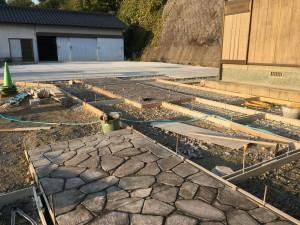 飯塚市 外構工事 施工中
