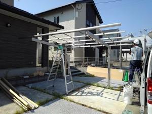 四国化成ライトポート 自動散水システム 工事